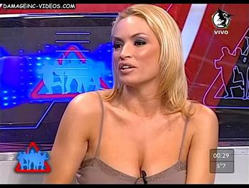 Uruguay Showgirl Claudia Fernandez huge cleavage and big boobs