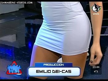 Claudia Fernandez hot legs in miniskirt