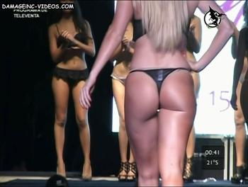 Alejandra Maglietti round butt in tiny thong