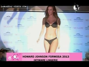 Giuliana Maglietti in black lingerie