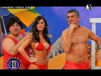 Busty Silvina Luna in her bikini