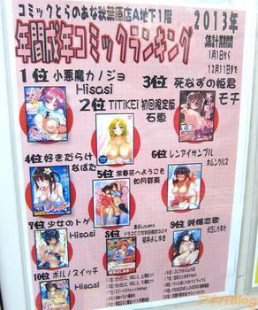 2013年 エロ漫画 年間ベストセラー(とらのあな秋葉原店A)